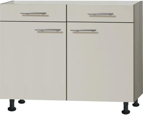 Meuble bas Optifit Finn largeur 100 cm beige-0