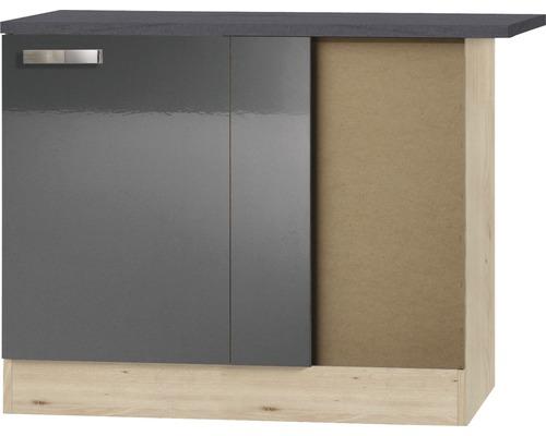 Meuble bas d''angle Optifit Udine largeur 100 cm anthracite