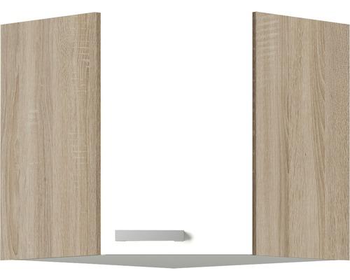 Armoire suspendue d''angle Optifit Zamora largeur 60 cm blanc