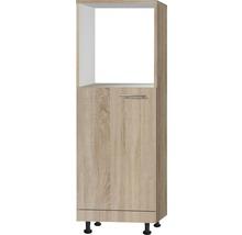Meuble bas Optifit Lasse largeur 60 cm imitation chêne clair brut de sciage-thumb-0