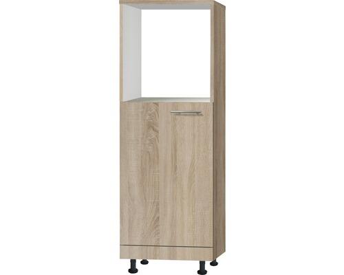 Meuble bas Optifit Lasse largeur 60 cm imitation chêne clair brut de sciage-0