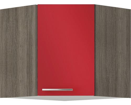 Armoire suspendue d''angle Optifit Imola largeur 60 cm rouge