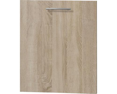 Façade pour lave-vaisselle Optifit Lasse largeur 59,60 cm imitation chêne clair brut de sciage