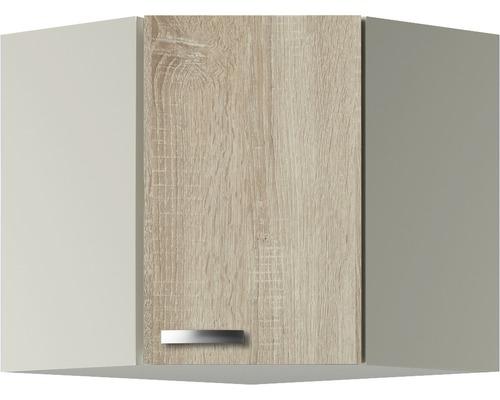 Armoire suspendue d''angle Optifit Padua largeur 60 cm imitation chêne clair brut de sciage