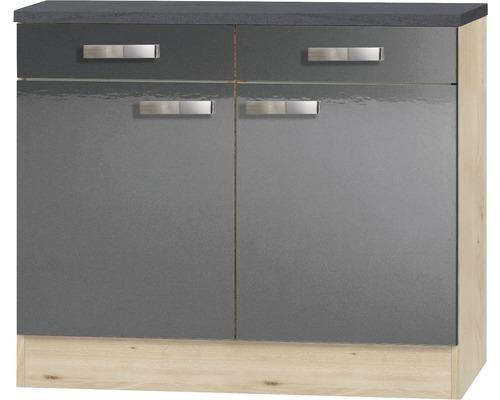 Meuble bas Optifit Udine largeur 100 cm anthracite-0