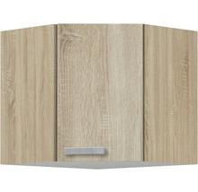 Armoire suspendue d''angle Optifit Neapel largeur 60 cm imitation chêne clair brut de sciage-thumb-0