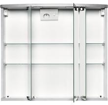 Armoire de toilette Doro LED coloris aluminium-thumb-1