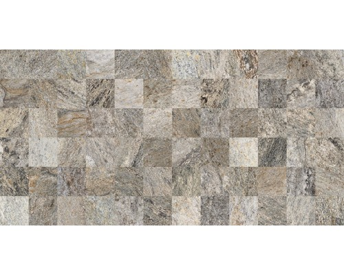 Carrelage décoratif Quarzit, gris, 32x62.5 cm