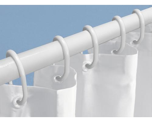 Set de douche en 3 parties blanc 75-125 cm