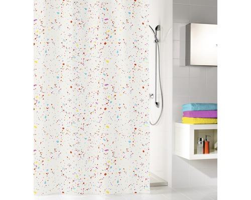 Rideau de douche PEVA Confetti multicolor 180x200 cm