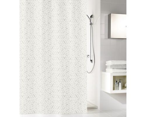 Rideau de douche Kleine Wolke Style textile gris argent 180x200cm