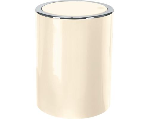 Poubelle à couvercle basculant Clap mini nature 1,5 litres