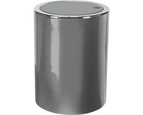 Poubelle à couvercle basculant Clap mini platine 1,5 litres