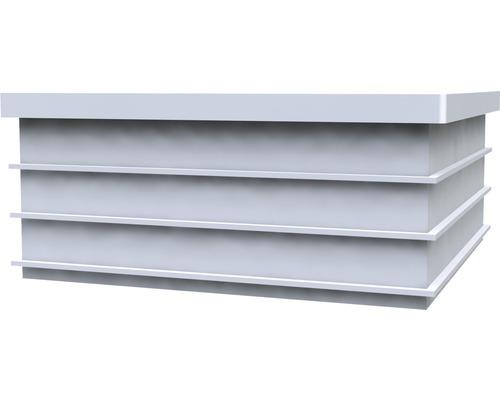 Pfostenkappe Kunststoff 9x9 cm weiß