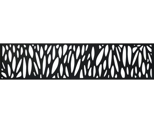 Design-Einsatz Konsta WPC schmal aluminium, schwarz