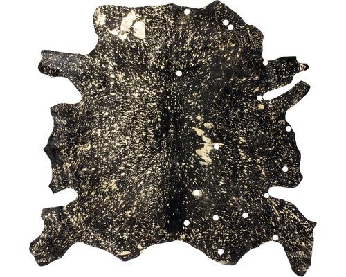 Peau de vache Glam 110 noir-or 135x165 cm (cuir véritable)
