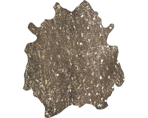 Peau de vache véritable Glam 110 marron or 135x165cm