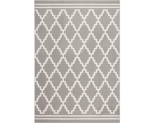 Tapis Lina 200 taupe ivoire 120x170 cm