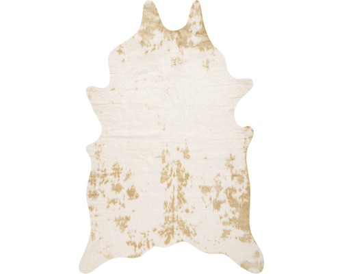 Peau artificielle Philippines Cow beige-blanc 150x200 cm