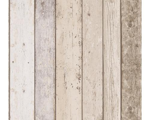 Papier peint 8999-10 planches de bois beige brun