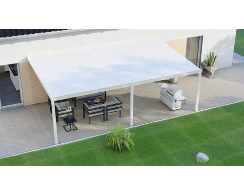 Toiture pour terrasse Legend avec polycarbonate opale 700x400 cm crème - HORNBACH Luxembourg