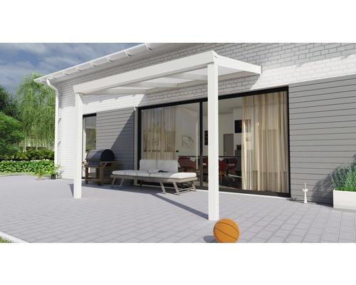 Toiture pour terrasse Legend avec polycarbonate opale 300x200 cm blanc