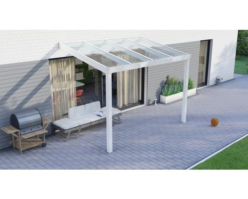 Toiture pour terrasse Legend avec verre de sécurité feuilleté 8 mm 300x200 cm blanc