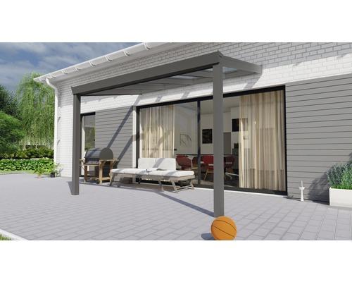 Toiture pour terrasse Legend avec verre de sécurité feuilleté 8 mm 300x200 cm anthracite