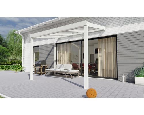 Toiture pour terrasse Legend avec polycarbonate transparent 300x200 cm blanc
