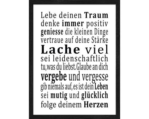 Image encadrée Lebensweisheit 33x43 cm-0