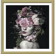 Image encadrée Flowerwoman 33x33 cm-thumb-0