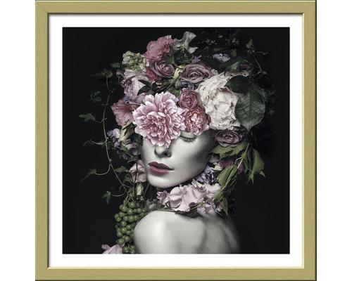 Image encadrée Flowerwoman 33x33 cm-0