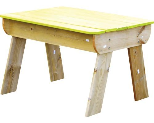 Table de jeu sable et eau bois avec couvercle 80x60x53cm vert naturel