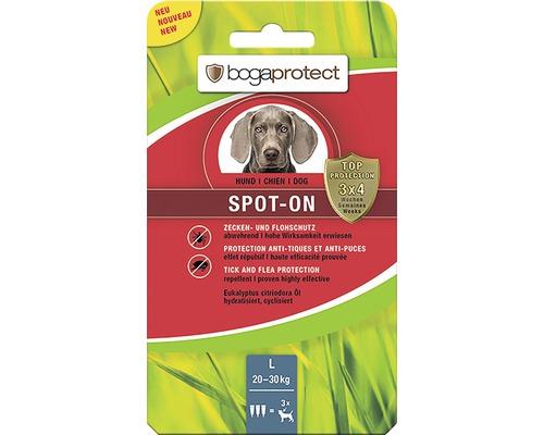 Protection contre les tiques et les puces bogaprotect SPOT-ON pour chiens de 20 à 30kg 3x3,2ml