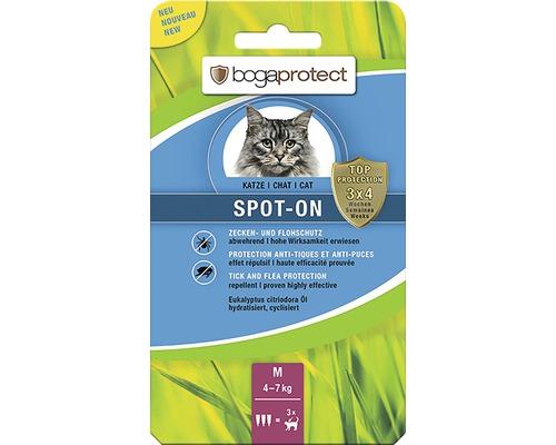 Protection contre les tiques et les puces bogaprotect SPOT-ON pour chats de 4 à 7kg 3x1,2ml