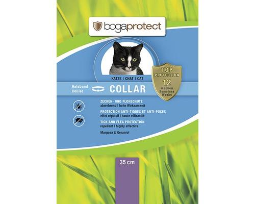 Collier de protection contre les tiques et les puces bogaprotect pour chats ayant un tour de cou jusqu''à 35cm