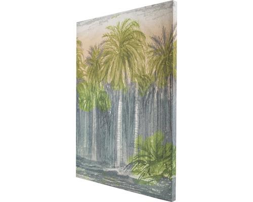 Tableau sur toile Jungle de palmiers 50x70 cm