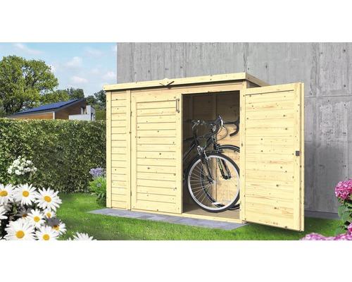 Gartenschrank/Fahrradgarage/ Mülltonnenbox Bertilo Multi-Box 3 200x82x163 cm natur