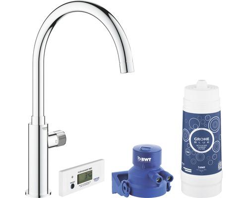Kit de démarrage robinet de lave-mains GROHE Blue Pure Mono chrome 30387000