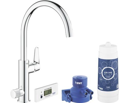 Kit de démarrage mitigeur d''évier GROHE Blue Pure BauCurve chrome 30385000