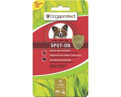Protection contre les tiques et les puces bogaprotect SPOT-ON pour chiens de 1 à 5kg 3x0,7ml-0
