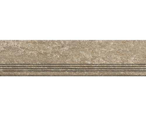 Marche en grès cérame fin Lava cuivre mat 30x120cm
