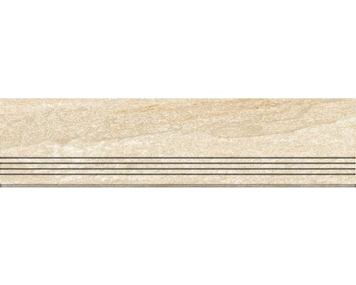 Marche en grès cérame fin Lava pierre 30x120cm