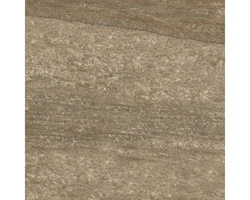Dalle de terrasse en grès cérame fin Lava cuivre vitrifié mat 60x60cm