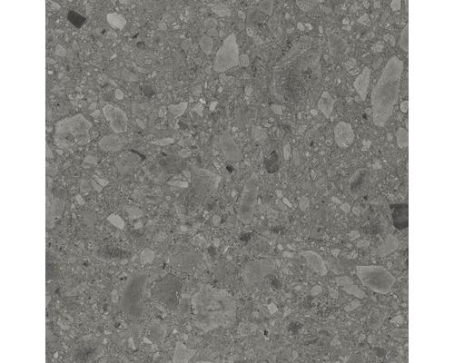 Dalle de terrasse en grès cérame fin Donau gris vitrifié mat 60x60cm