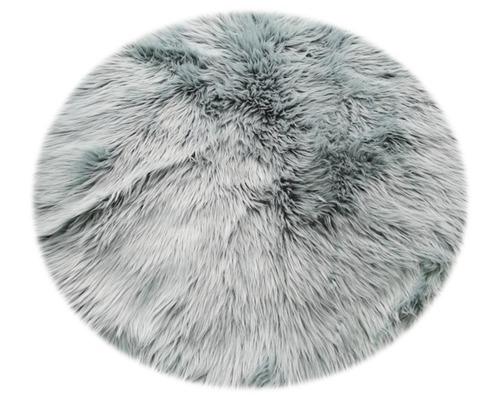 Fourrure synthétique eucalyptus ronde Ø100cm
