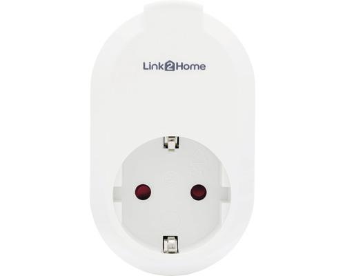 Prise WiFi Link2Home et minuterie blanc commande vocale avec Amazon Alexa + Google Assistant