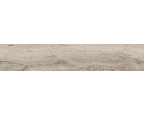 Carrelage pour mur et sol en grès cérame fin Limewood natural 23,3 x 120 cm