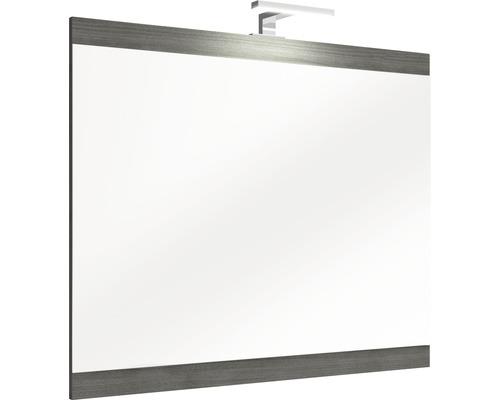 Miroir éclairé LED sur tableau en bois 70x85,5cm-0