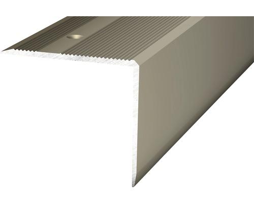 Nez de marche aluminium acier inoxydable mat perforé 45 x 40 x 1000 mm-0